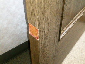 ドアの削れ