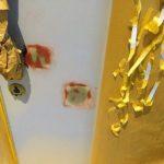 富士市内の商業ビル内 玄関ドア補修(パテ平面出し)