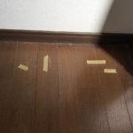フローリングのキズ多数の補修です。(富士宮市・富士市の住宅補修を承ります)イナダプランニング電話番号:0544-28-4107