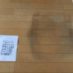 フローリング床の染みをリペアする画像です。(富士宮市・富士市の住宅補修を承ります)イナダプランニング電話番号:0544-28-4107