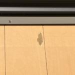 フローリング床がはがれています。補修写真です。(富士宮市・富士市の住宅補修を承ります)イナダプランニング電話番号:0544-28-4107