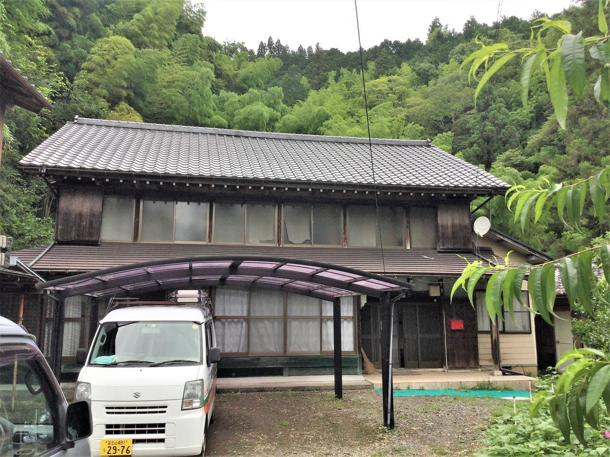 古民家築90年のリフォーム 富士宮市内房の外観写真です。